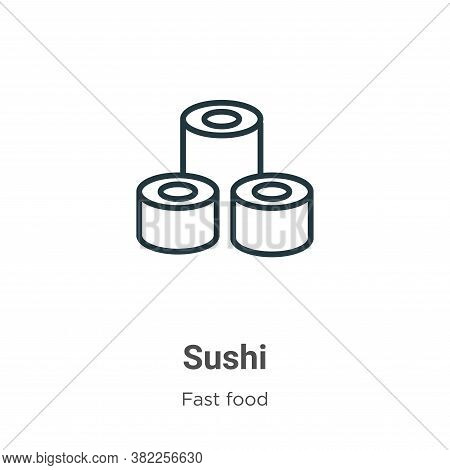 Sushi icon isolated on white background from fast food collection. Sushi icon trendy and modern Sush