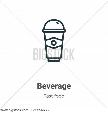 Beverage icon isolated on white background from fast food collection. Beverage icon trendy and moder
