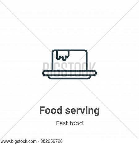 Food serving icon isolated on white background from fast food collection. Food serving icon trendy a