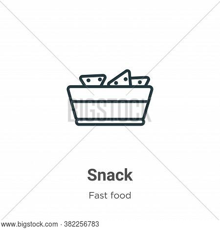 Snack icon isolated on white background from fast food collection. Snack icon trendy and modern Snac