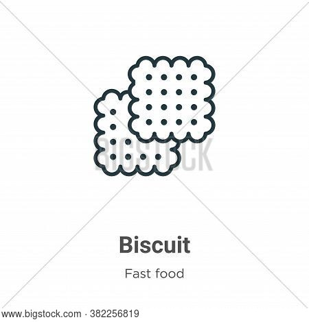 Biscuit icon isolated on white background from fast food collection. Biscuit icon trendy and modern