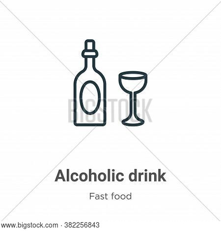Alcoholic drink icon isolated on white background from fast food collection. Alcoholic drink icon tr