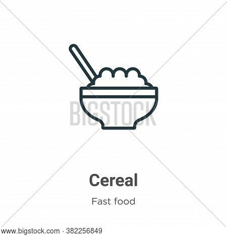 Cereal icon isolated on white background from fast food collection. Cereal icon trendy and modern Ce