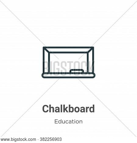 Chalkboard icon isolated on white background from education collection. Chalkboard icon trendy and m