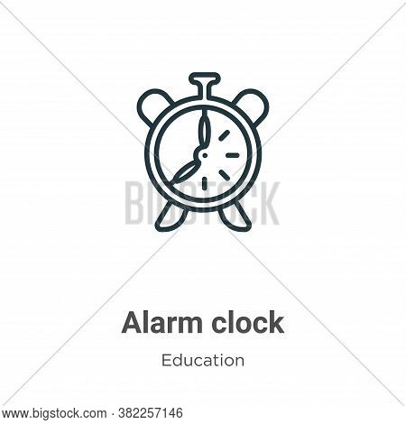 Alarm clock icon isolated on white background from education collection. Alarm clock icon trendy and