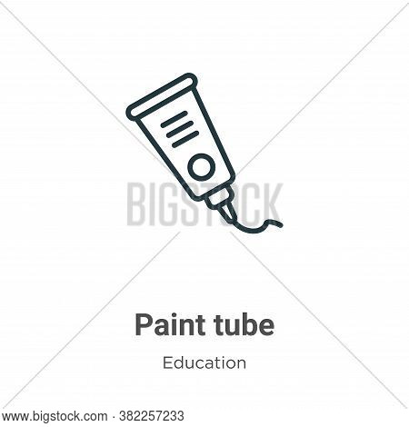 Paint tube icon isolated on white background from education collection. Paint tube icon trendy and m