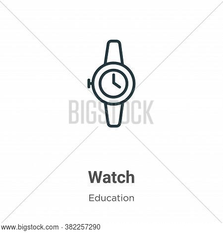 Watch icon isolated on white background from education collection. Watch icon trendy and modern Watc