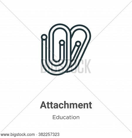 Attachment icon isolated on white background from education collection. Attachment icon trendy and m
