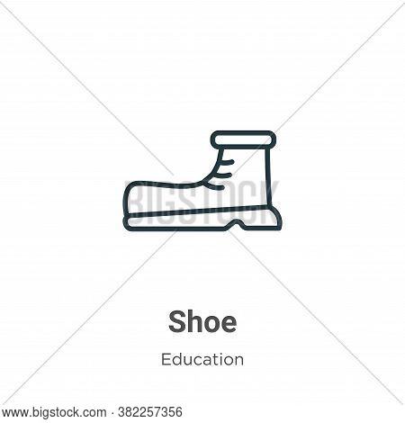 Shoe icon isolated on white background from education collection. Shoe icon trendy and modern Shoe s
