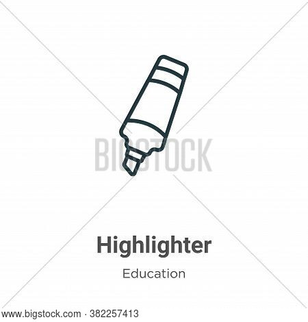Highlighter icon isolated on white background from education collection. Highlighter icon trendy and