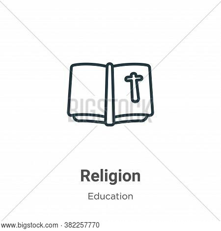 Religion icon isolated on white background from literature collection. Religion icon trendy and mode