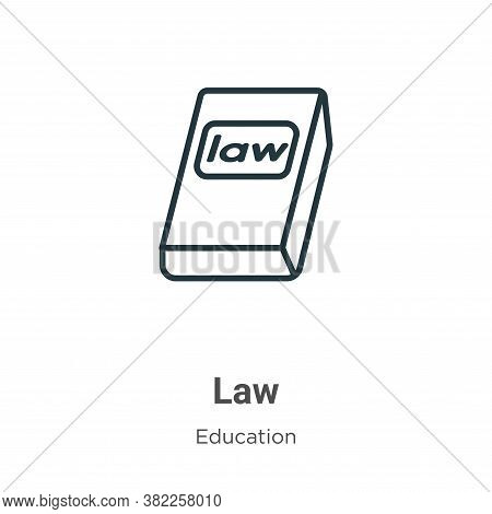 Law icon isolated on white background from literature collection. Law icon trendy and modern Law sym