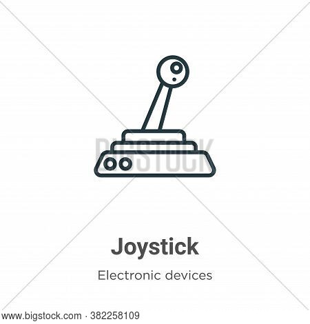 Joystick icon isolated on white background from electronic devices collection. Joystick icon trendy