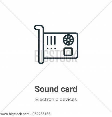 Sound card icon isolated on white background from electronic devices collection. Sound card icon tre