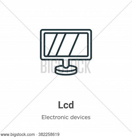 Lcd icon isolated on white background from electronic devices collection. Lcd icon trendy and modern