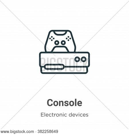 Console icon isolated on white background from electronic devices collection. Console icon trendy an