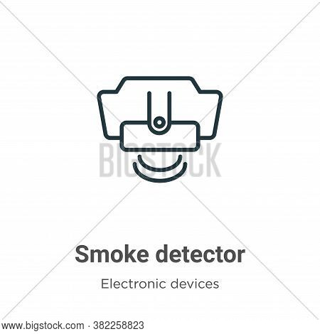 Smoke detector icon isolated on white background from electronic devices collection. Smoke detector