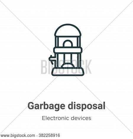 Garbage Disposal Icon From Electronic Devices Collection Isolated On White Background.