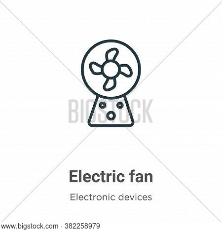 Electric fan icon isolated on white background from electronic devices collection. Electric fan icon