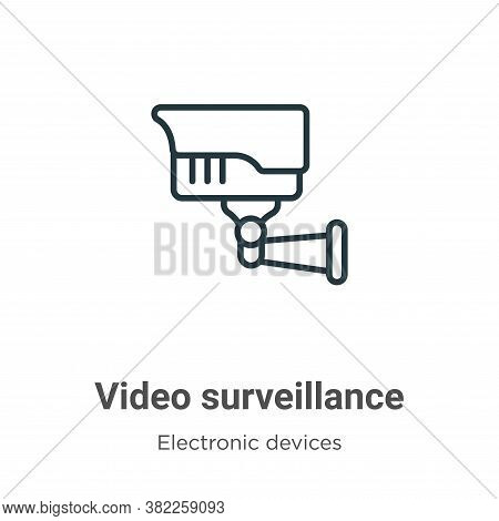 Video surveillance icon isolated on white background from electronic devices collection. Video surve