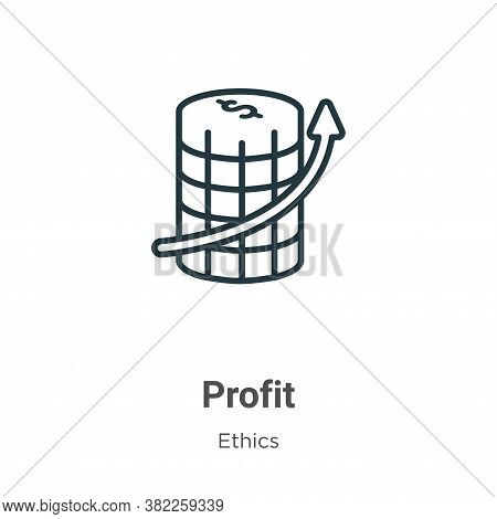 Profit icon isolated on white background from ethics collection. Profit icon trendy and modern Profi