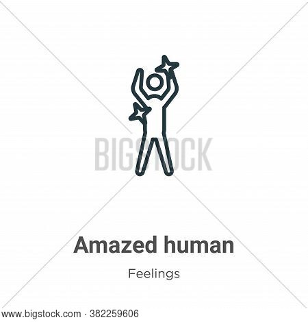 Amazed human icon isolated on white background from feelings collection. Amazed human icon trendy an