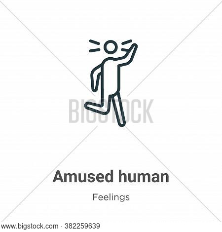 Amused human icon isolated on white background from feelings collection. Amused human icon trendy an