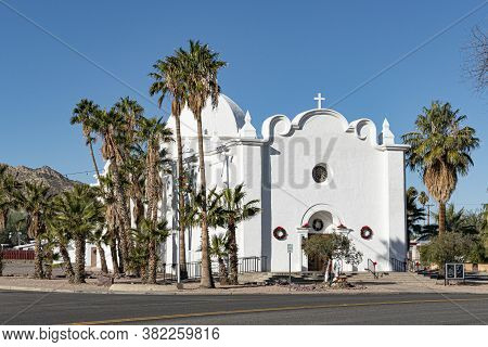 Historic Catholic Church In Ajo, Arizona, Usa