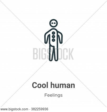 Cool human icon isolated on white background from feelings collection. Cool human icon trendy and mo