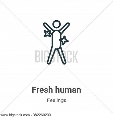 Fresh human icon isolated on white background from feelings collection. Fresh human icon trendy and