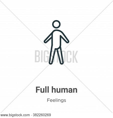 Full human icon isolated on white background from feelings collection. Full human icon trendy and mo