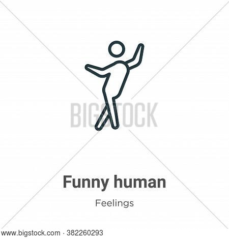 Funny human icon isolated on white background from feelings collection. Funny human icon trendy and