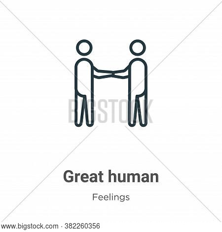 Great human icon isolated on white background from feelings collection. Great human icon trendy and