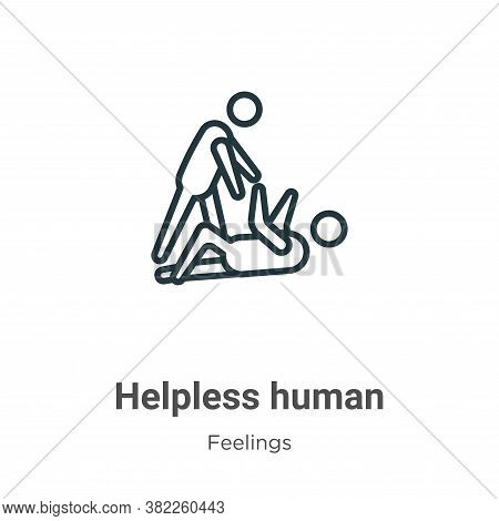 Helpless human icon isolated on white background from feelings collection. Helpless human icon trend