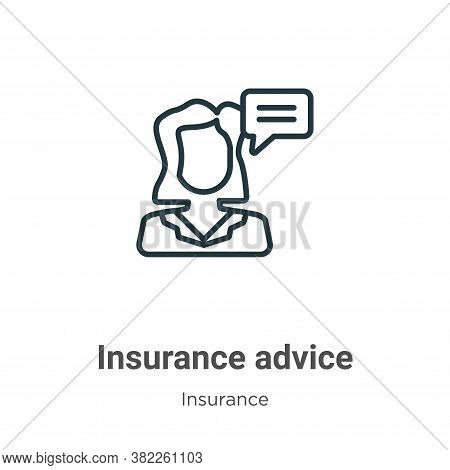 Insurance advice icon isolated on white background from insurance collection. Insurance advice icon