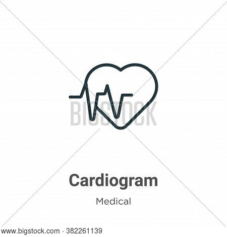 Cardiogram icon isolated on white background from medical collection. Cardiogram icon trendy and mod