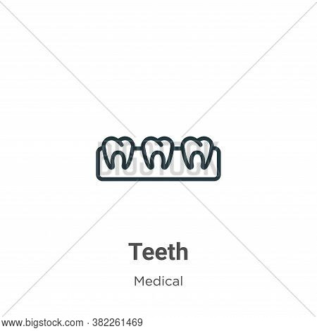 Teeth icon isolated on white background from medical collection. Teeth icon trendy and modern Teeth