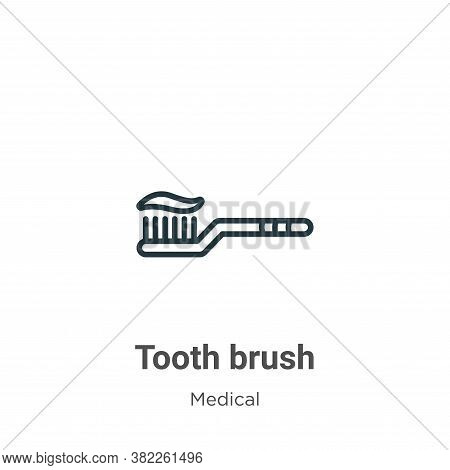 Tooth brush icon isolated on white background from medical collection. Tooth brush icon trendy and m