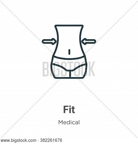 Fit icon isolated on white background from medical collection. Fit icon trendy and modern Fit symbol