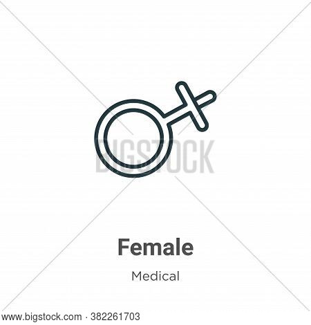 Female icon isolated on white background from medical collection. Female icon trendy and modern Fema