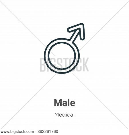 Male icon isolated on white background from medical collection. Male icon trendy and modern Male sym