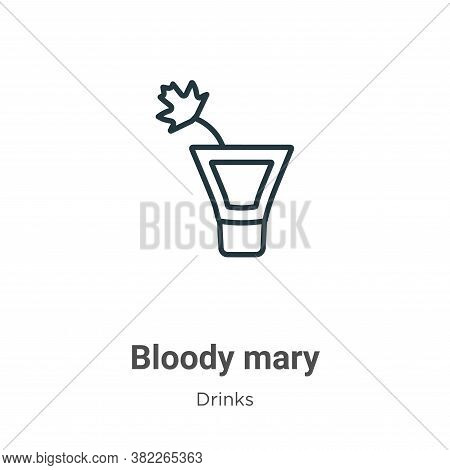 Bloody mary icon isolated on white background from drinks collection. Bloody mary icon trendy and mo