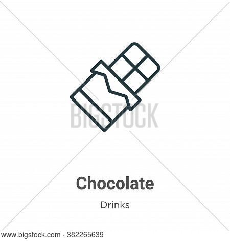 Chocolate icon isolated on white background from drinks collection. Chocolate icon trendy and modern