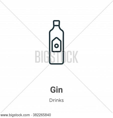 Gin icon isolated on white background from drinks collection. Gin icon trendy and modern Gin symbol