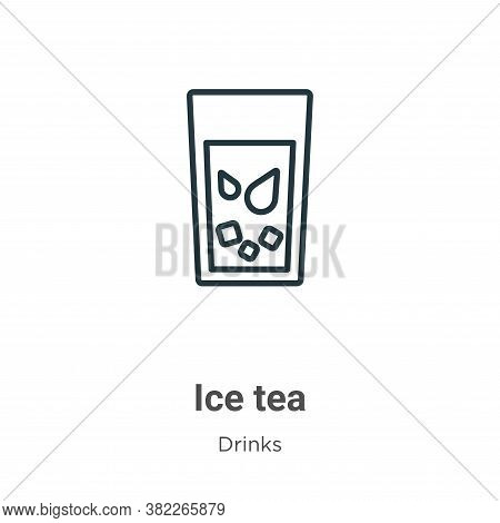 Ice tea icon isolated on white background from drinks collection. Ice tea icon trendy and modern Ice