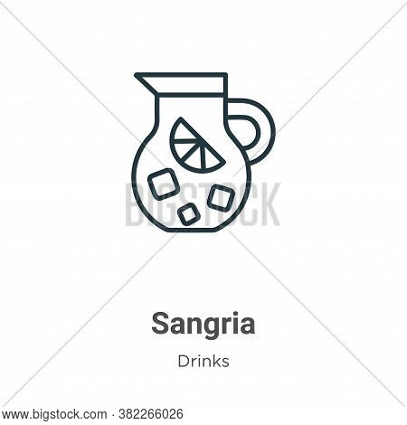 Sangria icon isolated on white background from drinks collection. Sangria icon trendy and modern San