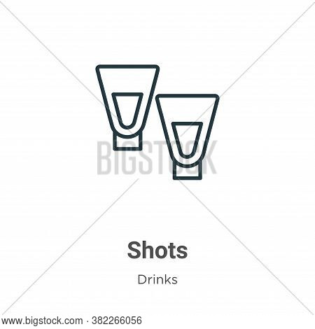 Shots icon isolated on white background from drinks collection. Shots icon trendy and modern Shots s