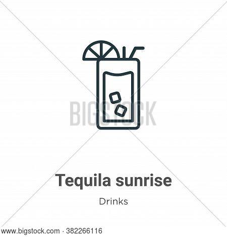 Tequila sunrise icon isolated on white background from drinks collection. Tequila sunrise icon trend
