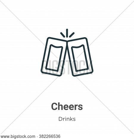 Cheers icon isolated on white background from drinks collection. Cheers icon trendy and modern Cheer