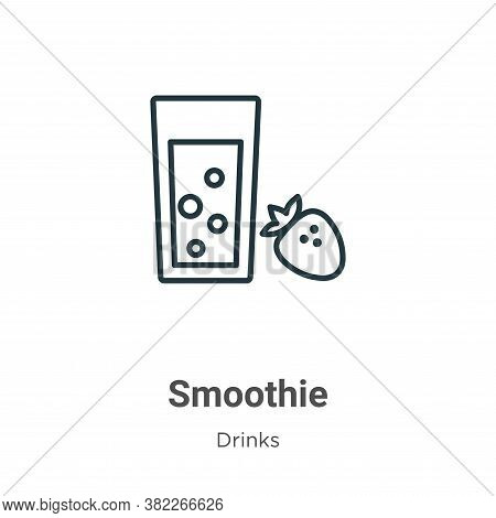 Smoothie icon isolated on white background from drinks collection. Smoothie icon trendy and modern S